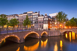Fototapety Amsterdam tranquil canal scene, Holland