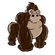 gorilla vintage cartoon