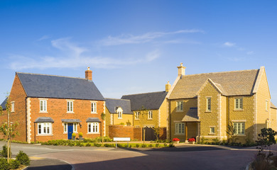 Street view of new houses