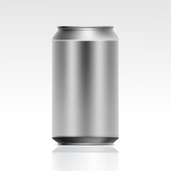 Vector Realistic Metal Can