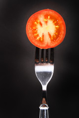 fresh round cut tomatoe