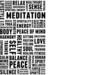 Meditation Tagcloud Banner