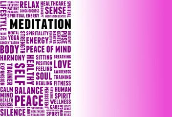 Meditation Tagcloud Banner pink