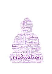 Meditation Buddha Tagcloud tag cloud