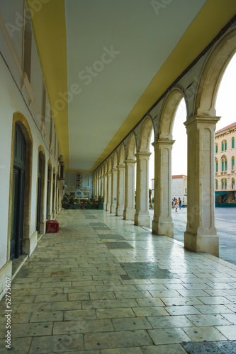 Colonnade at the Republic Square, Split, Croatia