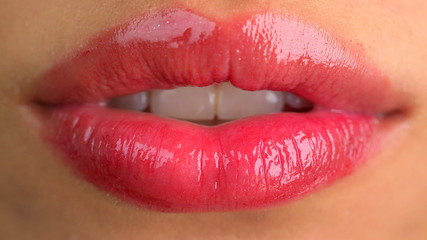 Extreme close up of sexy lips