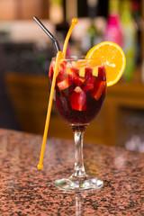 Sangria on bar counter