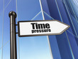 Timeline concept: Time Pressure on Building background