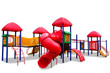 Colorful children s playground isolated on white background - 52777016