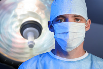 Close up of a young surgeon