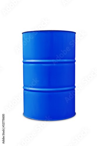 Blue oil barrel