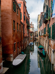 Small canal in Venice, Italy.