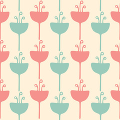 Seamless tulip flower background pattern