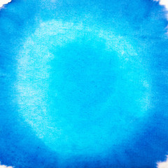 Blank Blue Abstract Watercolor Macro Texture Background