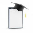 school graduation blank on a white background