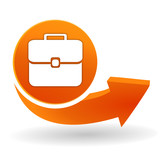 valise sur bouton web orange