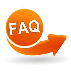 faq sur bouton web orange