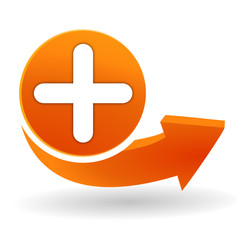 ajouter sur bouton web orange