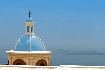 Traditional steeple at Syros island in Greece