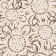 Seamless background with imprinted flower pattern