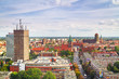 Panorama of Gdansk city centre in Poland