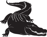 Big crocodile with terrible canines. vector image poster
