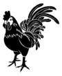Stylised rooster illustration