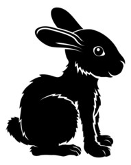 Stylised rabbit illustration