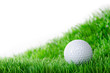 golfball liegt in wiese