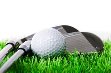 closeup einer golfausrüstung