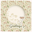 Vintage flowers background. Greetings card