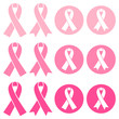 Set Breast Cancer Ribbon Pink
