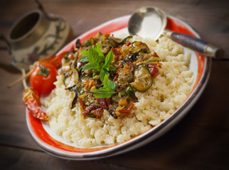 Cous cous con verdure - Cous cous with vegetables