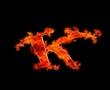 K en llamas.