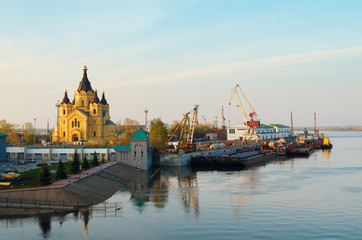 Речной порт в Нижнем Новгороде