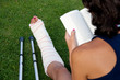 Reading with a broken leg