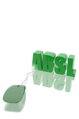 Computer mouse and ADSL symbol