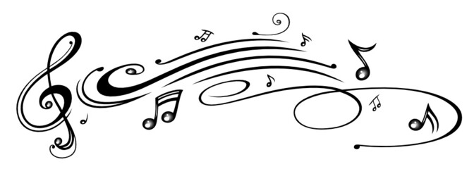 Noten, Notenschlüssel, Musiknoten, Musik