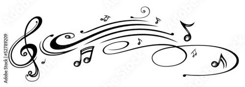 Poster Noten, Notenschlüssel, Musiknoten, Musik