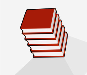 books isolated