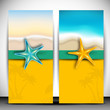 Summer holidays banners with starfish.