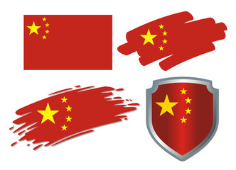 various Flags China