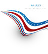 American flag fantastic wave on white background vector