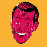 vintage cartoon man