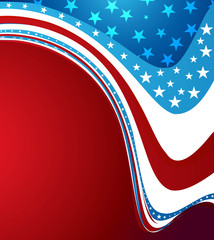 American Independence Day shiny creative wave background pattern