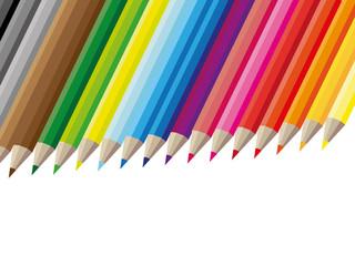 Farbige Buntstifte Bunt Malen zeichnen reihe aufstieg