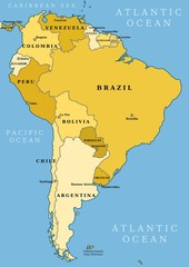 South America - vector illustration
