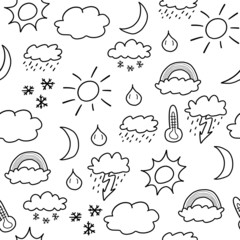 Weather background - vector illustration