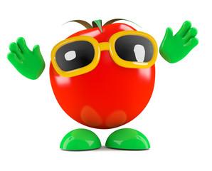Tomato looks surprised
