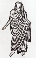 ancient Roman emperor in a toga